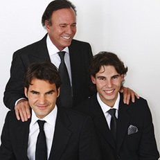 Photo by Jesus Cordero.With Rafael Nadal, Julio Iglesias & Roger Federer
