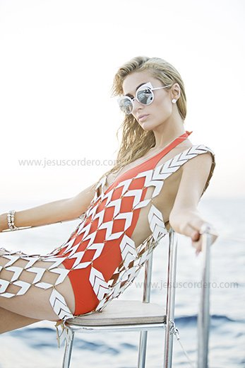 Photography by Jesus Cordero. Paris Hilton